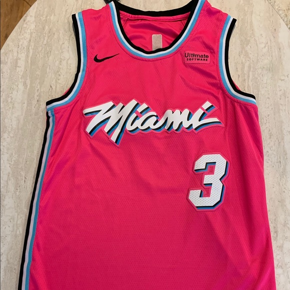 Nike Other Dwyane Wade Miami Heat 201819 Jersey Pink Large Poshmark